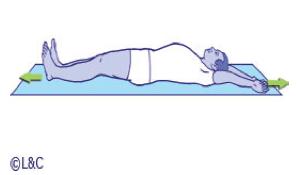 Schéma explicatif étirement couché